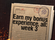 Earn my bonus experience ALL