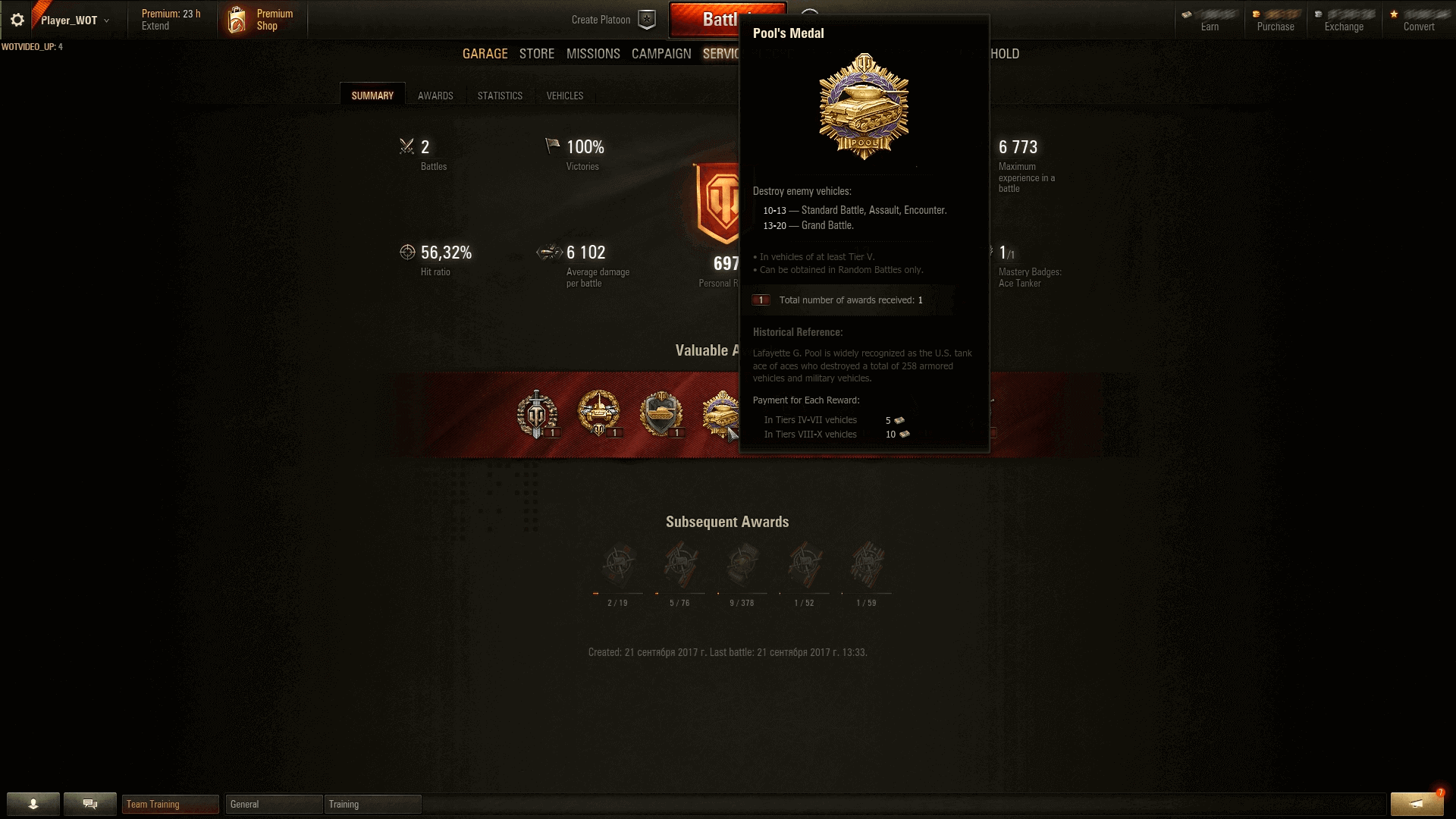 Matchmaking 5 Wot kv.. ( but it will get limited matchmaking ).