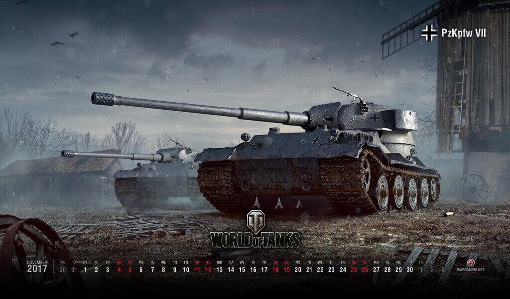 2009 s naptár November 2017 Calendar: Pz.Kpfw. VII | Tanks: World of Tanks media  2009 s naptár