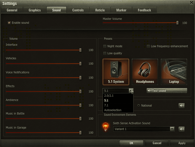 updated ui  new sound tab en