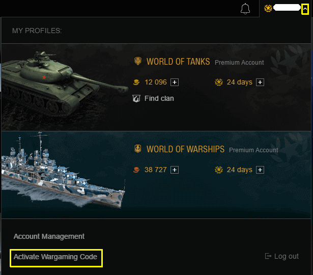 WoT Bonus Code Asia
