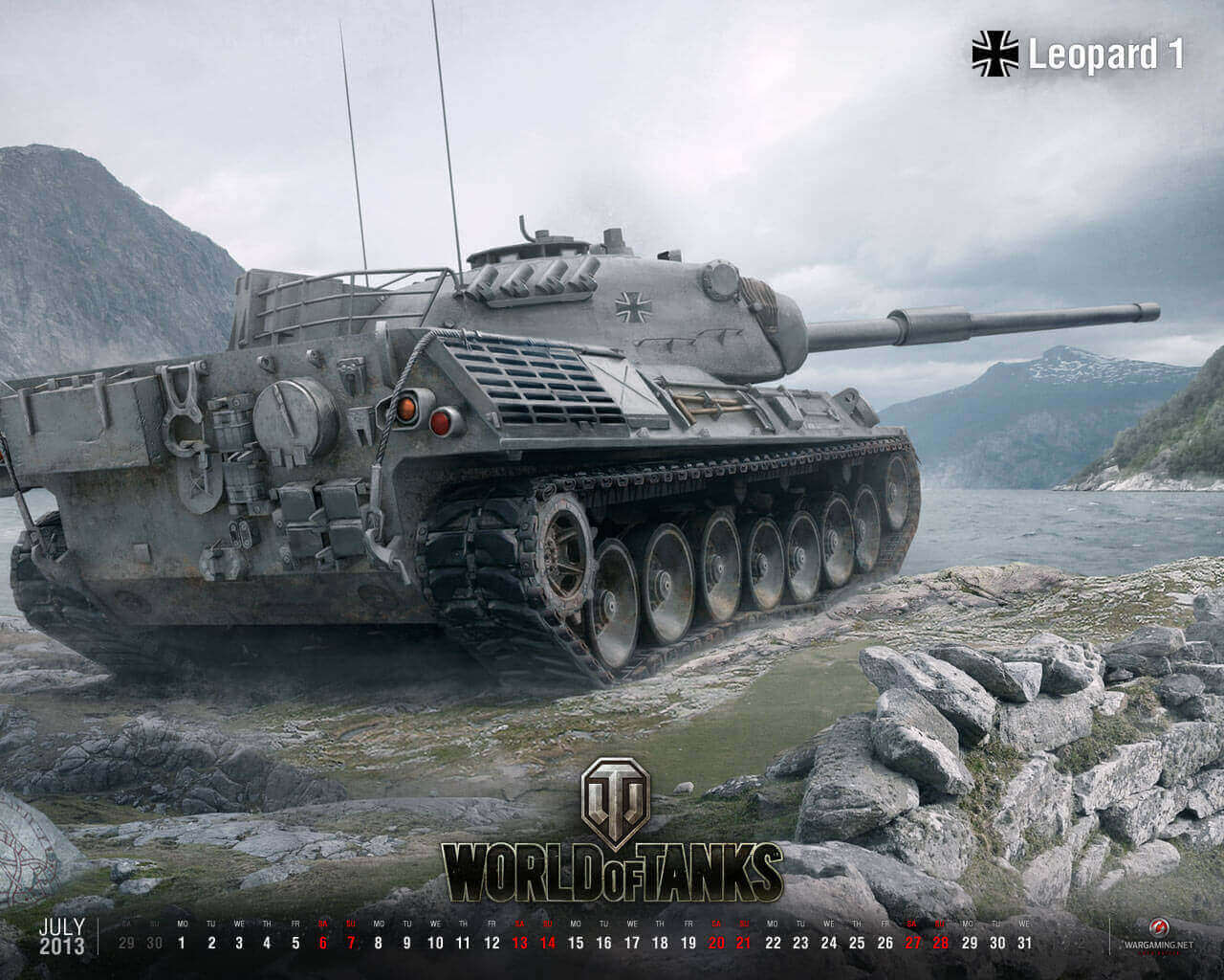 July Calendar 2013 (New): Leopard 1