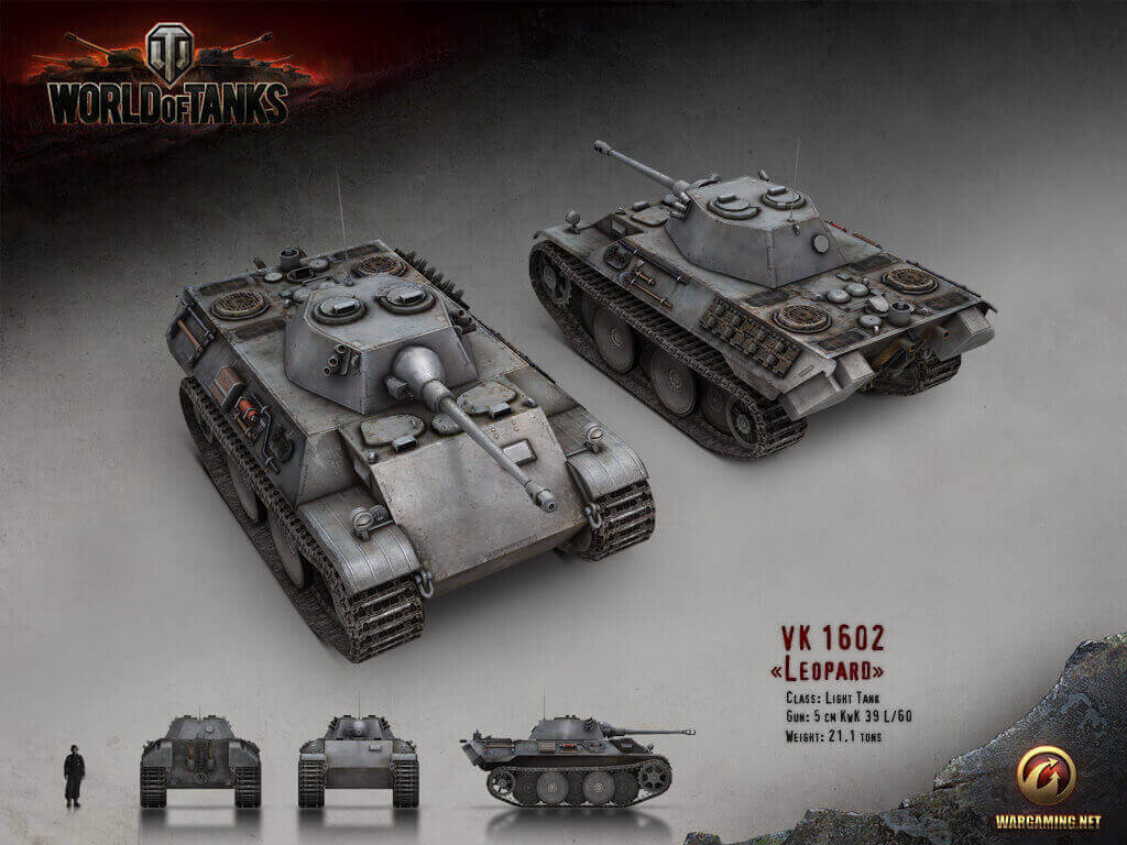 Vk 1602 Leopard Front Left View